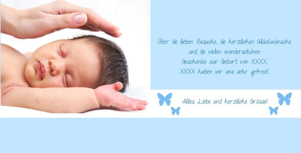 ... Danksagung Geburt D 2109005, Vk Innenseite